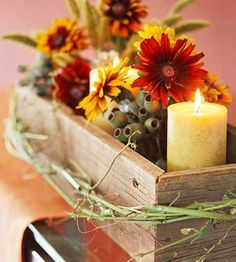 fall+floral+arrangements+ideas   22 Simple Fall Craft Ideas and DIY Fall Decorations