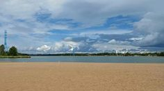 Hietaranta Beach in Helsinki is empty. Summer is over and the temperature was close 15 Celcius. Photo: Helena Roschier.