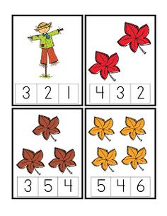 Preschool Fruits and Vegetables Worksheets Pattern Worksheets for Kindergarten New Fall Worksheets for Fall Preschool Activities, Numbers Preschool, Math Numbers, Preschool Printables, Preschool Math, Preschool Worksheets, Kindergarten Math, Number Puzzles, Math For Kids