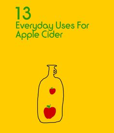 13 Everyday Uses for Apple Cider Vinegar Having a bottle of apple cider vinegar in your pantry provides you with an array of health benefits. Let Yahoo Makers inspire you every day! Join us on Facebook ,Twitter ,Instagram , Tumblr , and Pinterest .