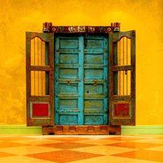 #Doorways into a moonlight rainbow. #doors http://patricialee.me/feng-shui-at-the-front-door/