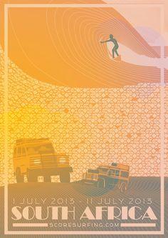 Score Surfing Poster South Africa - Bruce Doscher