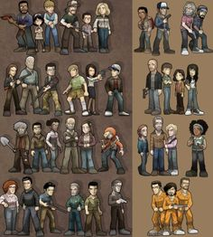 The walking dead game fan art. Wow, everyone I can think of is here! (From season 1)