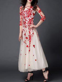 Beaded Formal Evening Night Maxi Dress - StyleWe.com