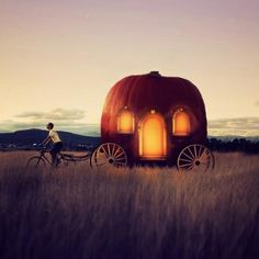 modern pumpkin carriage