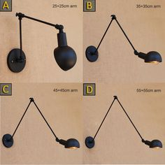 21.24$  Buy here - http://alito8.shopchina.info/1/go.php?t=32812913892 - Vintage Loft Industrial Adjustable Sconce Wall Lights for Bedroom Long Swing Arm Flexible Wall Lamp Black Lighting Fixtures E27  #buychinaproducts
