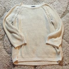 White H&M Sweater Size XS. Decent used condition. Very soft H&M Sweaters Crew & Scoop Necks