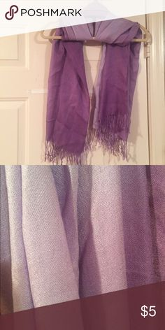 Scarf Gorgeous purple scarf.  Pair this with the purple rain jewelry listed in my closet.   Great combo.  Bundle and save!! Let's make a deal!! Accessories Scarves & Wraps
