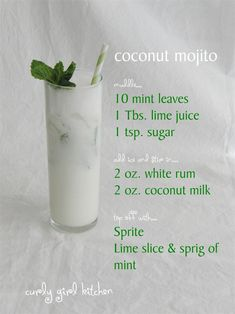 Curly Girl Kitchen: Coconut Mojito