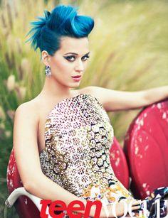 aquatic blue hair