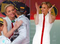 PHOTOS Charlène aux couleurs de Monaco pour le Grand Prix de F1