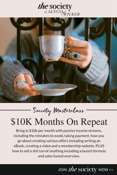 interior design business, 10k months, income