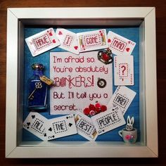 Alice in Wonderland Themed Picture - Alice & Mad Hatter Quote £40.00