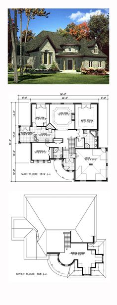 House Plan 48126 - Victorian Style House Plan with 1980 Sq Ft, 3 Bed, 2 Bath, 2 Car Garage Dream House Plans, House Floor Plans, My Dream Home, Dream Homes, Big Beautiful Houses, Beautiful Homes, Victorian House Plans, Victorian Homes, Cream Living Rooms