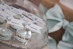 Blue Ruffle Birdie Baby Shower