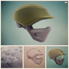 David Hardie  A Helmet I sketched then rendered using Procreate for iPad.