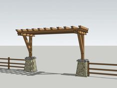 Agricultural project in CA designed by Trent Grantham - Ranch Entry Gate Farm Entrance, Entrance Design, Gate Design, House Entrance, Entrance Ideas, Front Gates, Front Yard Fence, Entrance Gates, Fenced In Yard
