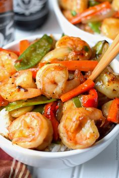 Shrimp with Hot Garlic Sauce Recipe-Butter Your Biscuit Sauce Recipes, Fish Recipes, Seafood Recipes, Asian Recipes, Dinner Recipes, Cooking Recipes, Healthy Recipes, Bread Recipes, Holiday Recipes