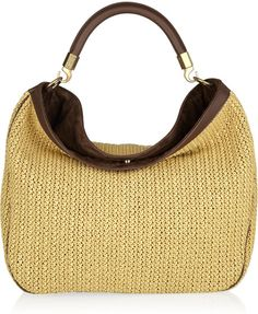 Saint Laurent - Natural Roady Woven Straw and Leather Hobo Bag 4fb4fcc3eaf6c