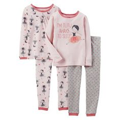 Just One You Made by Carter's® Infant Toddler Girls' 4-Piece Ballerina Pajama Set