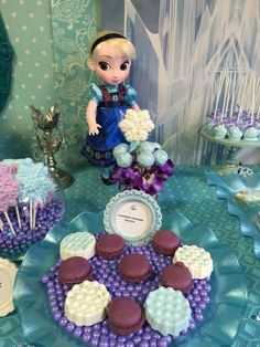 Elsa's treats at a Frozen birthday party! See more party planning ideas at CatchMyParty.com!