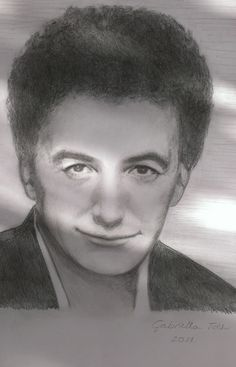 John Deacon (Queen) pencil drawing (portrait) by Gabriella Tóth