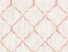 Geo Trellis Peach NH11203 Oriental Wallpaper, Geometric Wallpaper, Minimalist Wallpaper, All Wall, Compliments, Hand Painted, Simple Pattern, Crafts, Trellis