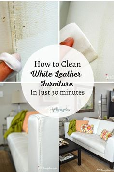 How to safely clean white leather furniture, sofa, chairs and more . Make your white leather look new agin and last longer with proper care Cleaning Leather Sofas, White Leather Furniture, Cleaning Leather Furniture, Faux Leather Couch, White Leather Chair, Best Leather Sofa, How To Clean Furniture, Leather Chairs, White Leather Cleaner