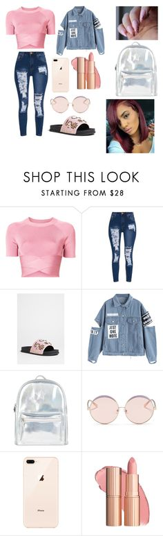 """""""Pink Baby💕👄😝"""" by majesticqveenn ❤ liked on Polyvore featuring T By Alexander Wang, Forever 21, Accessorize and N°21"""