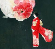 キモノガール (Kimono Girl) by 山田緑 (Yamada Midori).