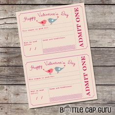 DIY Valentine's Day Coupons * Printable Vouchers for V-Day * Romantic Gift for Him or Her * Valentine's Gifts Ideas for Kids * Instant Download!