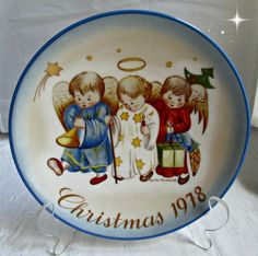 Berta Hummel 1978 Christmas Plate Heavenly by EauPleineVintage