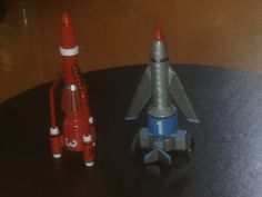https://flic.kr/p/KHUbtg | Corgi Thunderbird 1 & 3 | Here is a Corgi / Hornby Thunderbirds 1 & 3.