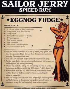 Sailor jerry eggnog fudge