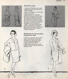 Here are the last of Mary Young 's Coat rules. Some of you LOVED the first lot of coat rules Really, Mary was training young women in all t. Good Manners, Table Manners, She's A Lady, Act Like A Lady, Vintage Modern, Ettiquette For A Lady, Lady Rules, Etiquette And Manners, Finishing School