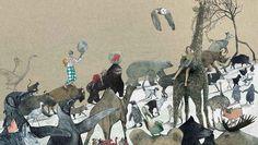 Ilustración interior del libro La Pregunta del Elefante realizada por la ilustradora belga Kaatje Vermeire. http://libros-cuentos-infantiles-juveniles.elparquedelosdibujos.com/2015/08/la-pregunta-del-elefante.html