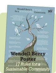 Wendell Berry Poster Ad (17 Rules for a Sustainable Community)