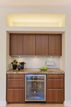 would love to put a wine fridge in the small part of our kitchen