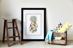Amelia Lane Paper Palm Beach Pineapple Print - Unframed Shop In Store and Online Pineapple Print, Palm Beach, Amelia, Art Prints, Store, Paper, Furniture, Home Decor, Products