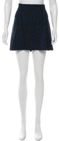 Veronica Beard Patterned Mini Skirt