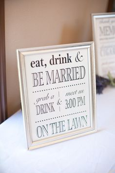 i like this . . . is it weird to give people a drink before/during the ceremony?