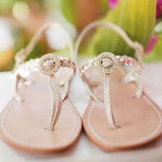 Brides: Wedding Shoes for a Beach Wedding   Wedding Accessories   Brides.com