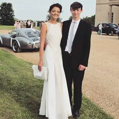 What a beauty! @lydianicklin looked stunning in #JarloLondon #Beatrix maxi dress…