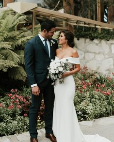 An off-the-shoulder sweetheart neckline gives this stunning ivory crepe gown an elegant, feminine air. Details like the criss-crossed bodice and sweeping train make it unforgettable. Black Wedding Dresses, Red Wedding, Wedding Bells, Wedding Colors, Wedding Gowns, Wedding Photos, Garden Wedding, Lace Dresses, Dress Lace