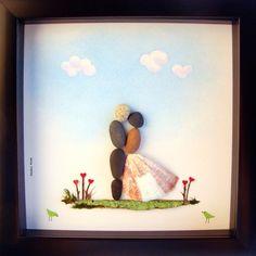 Einzigartige Wedding Gift-Unique Engagement Gift-Personalized Hochzeit Geschenk-personalisierte paar Geschenk - Braut und Bräutigam Geschenk - Pebble Kunst