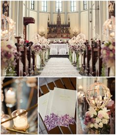 White and gold wedding church decormple but elegant with wine katedral jakarta wedding decoration google search junglespirit Image collections