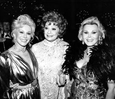 Lucille Ball with Eva and Zsa Zsa Gabor