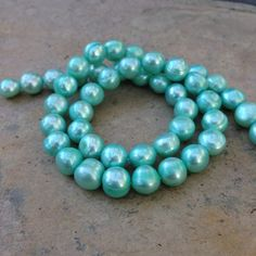 Green Pearls freshwater pearls potato pearls by marketplacebeads