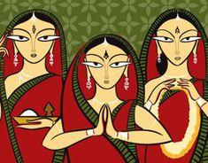 "The Jamini Roy Collection (Illustration + Design) - Check out this project: ""The Jamini Roy Collection (Illustration + Design)"" www. Buddha Kunst, Buddha Art, Madhubani Art, Madhubani Painting, Worli Painting, Fabric Painting, Jamini Roy, Bengali Art, Kalamkari Painting"