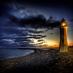 Lighthouse On A Rocky Point Hdr wallpaper free Best Hd Background, Background Pictures, Costa, Plymouth Colony, Lighthouse Photos, Rocky Point, Cedar Point, Blue Hour, Cn Tower
